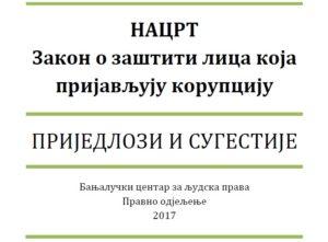 Prijedlozi - Zakon o zastiti lica koja prijavljuju korupciju