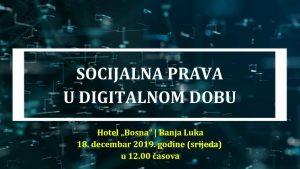Socijalna prava u digitalnom dobu